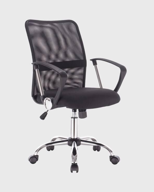 mobili rebecca sedia da scrivania nera ergonomica e traspirante