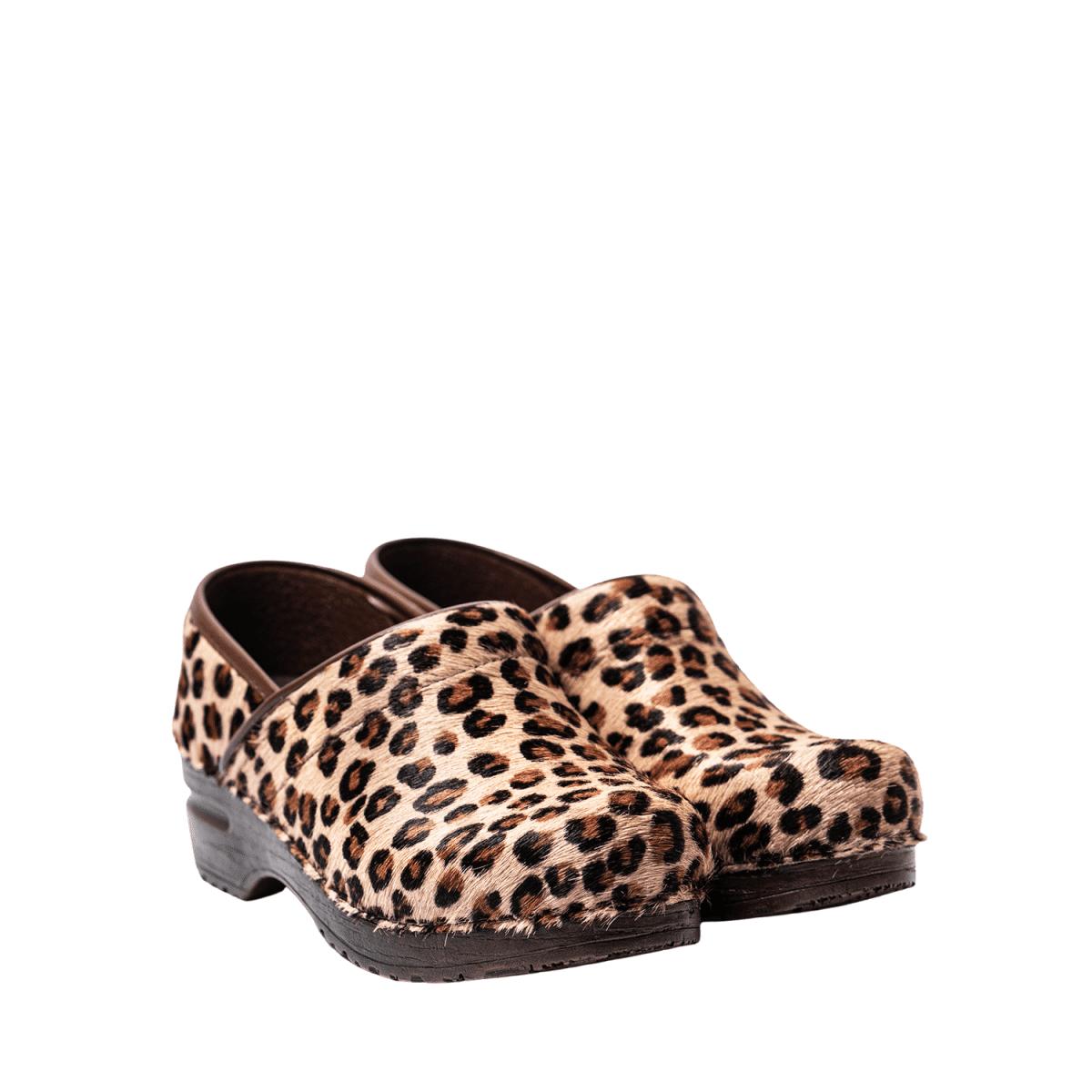 Sanita Zoccolo Original - Prof. Fur Fur Leopard - 38