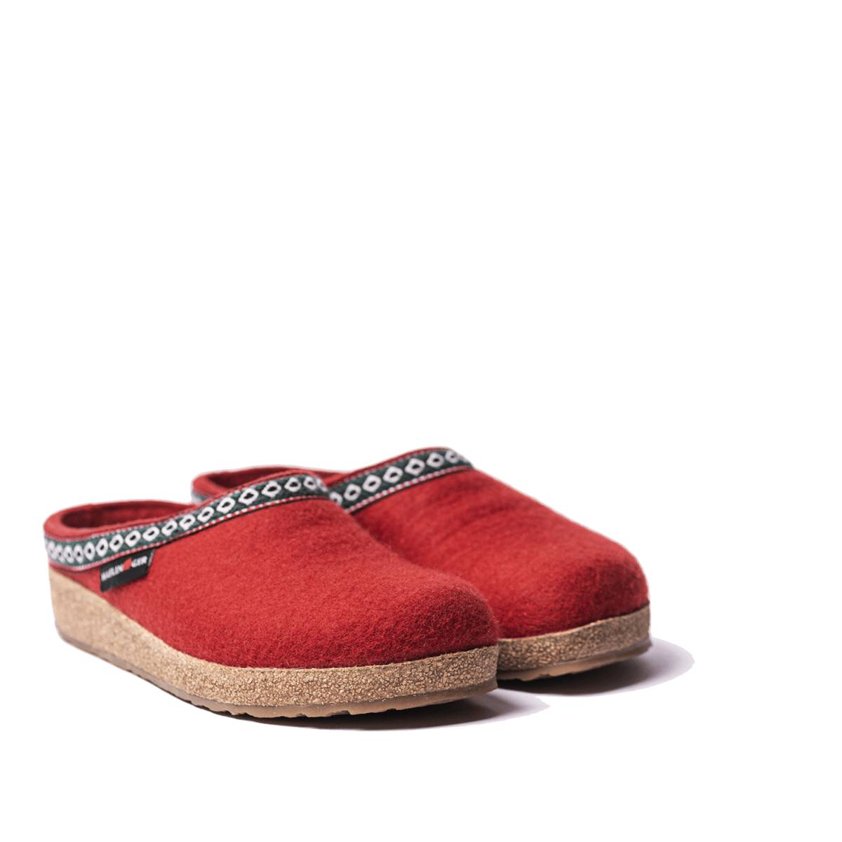 Haflinger Pantofola Grizzly Franzl Rosso - 36