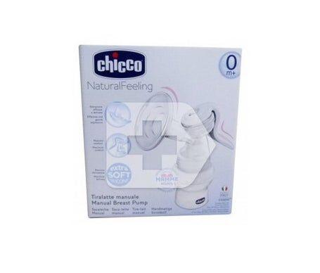 Chicco Sensazione naturale ™ Pompe Seno manuale 0m + con capezzolo in silicone 1pc