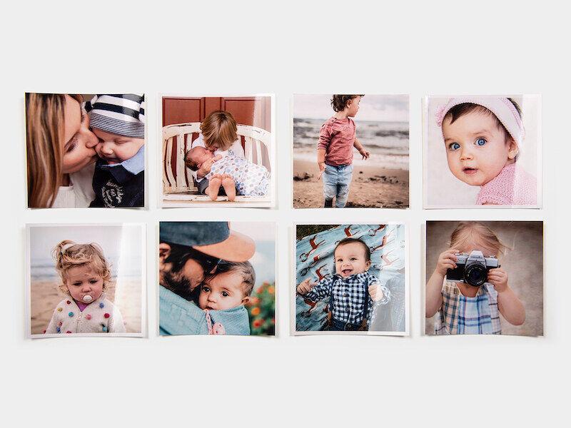 myposter stampa foto quadrate: 300 foto in formato 10x10, lucide