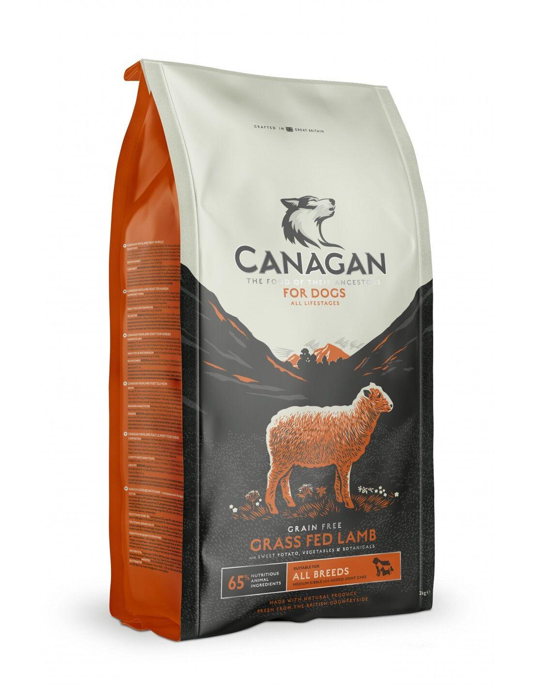 canagan dog - all breeds grass fed lamb [agnello, patate, verdure - grain free] 2 kg