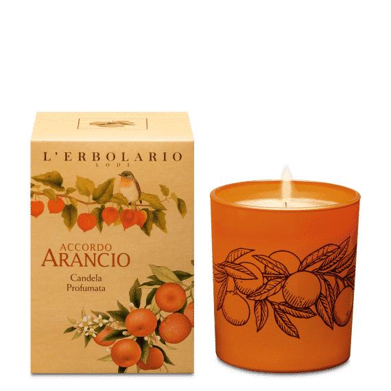 erbolario candela profumata accordo arancio l'erbolario