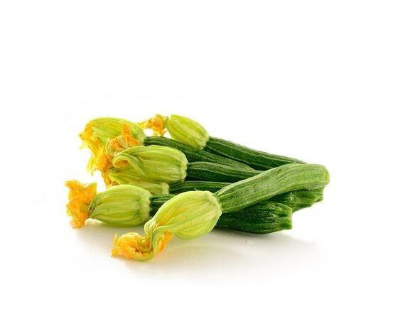 zucchine chiare con fiore del contadino