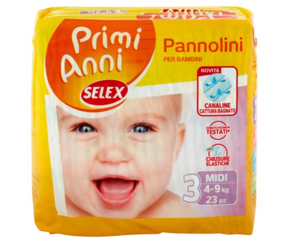 Pannolini Baby Selex Mis.Midi 23p