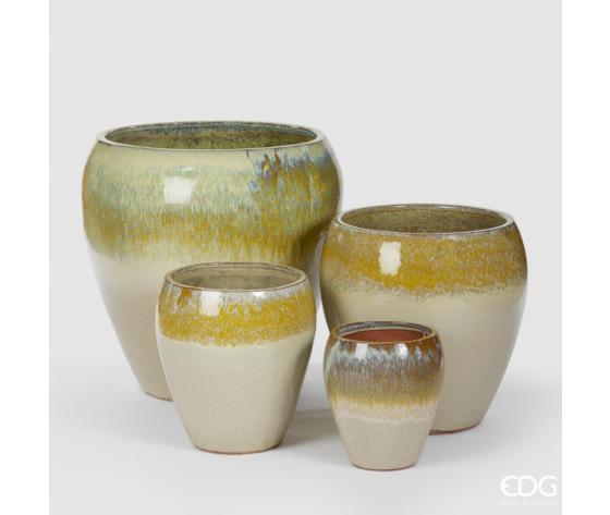 enzo de gasperi vaso in ceramica da interno/esterno glaze edg