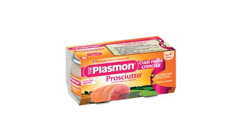 PLASMON Omogeneizzato Prosciutto Cotto 2 Vasetti Da 80g