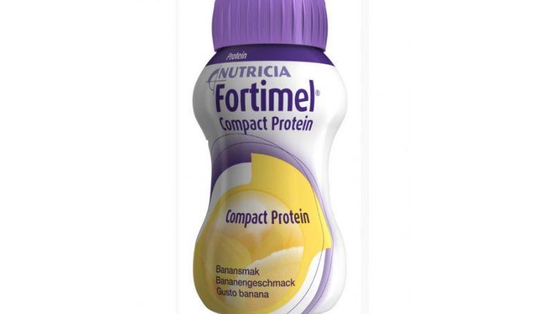 nutricia fortimel compact protein integratore alimentare gusto banana 4x125ml