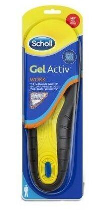scholl gel activ work uomo soletta per scarpe da lavoro