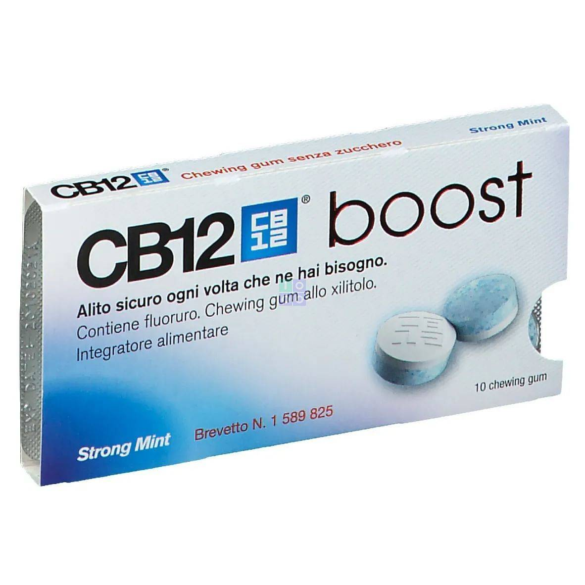 CB12 Boost Chewing-Gum Menta Forte 10 Pezzi