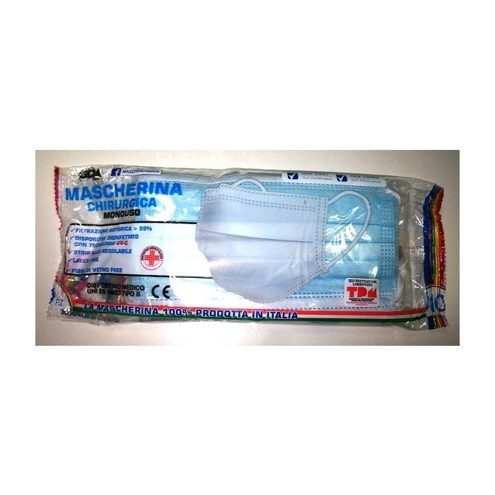 mascherina chirurgica monouso gda confezione da 10 mascherine