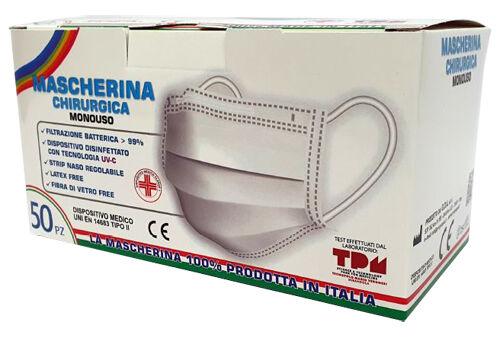 Mascherina Chirurgica Monouso GDA Confezione da 50 Mascherine