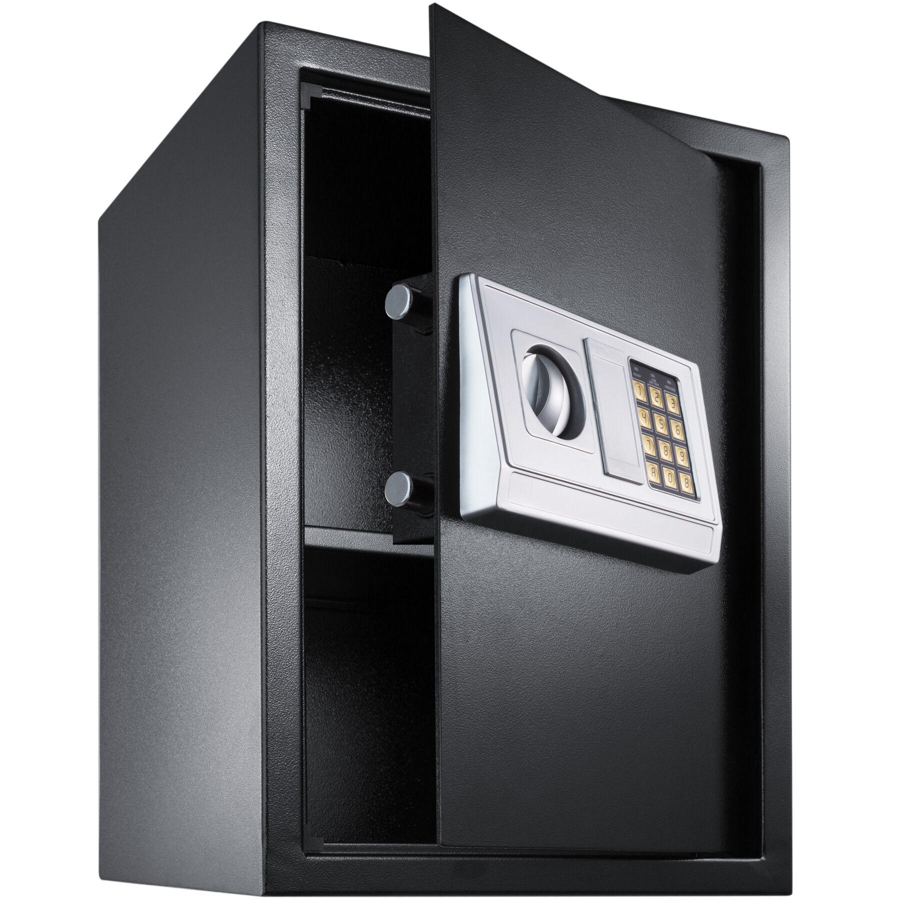 tectake cassaforte elettronica + chiavi, modello 4, grande - nero