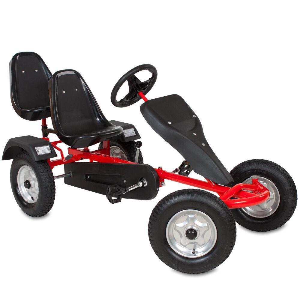 tectake Go-kart, 2 sedili - rosso
