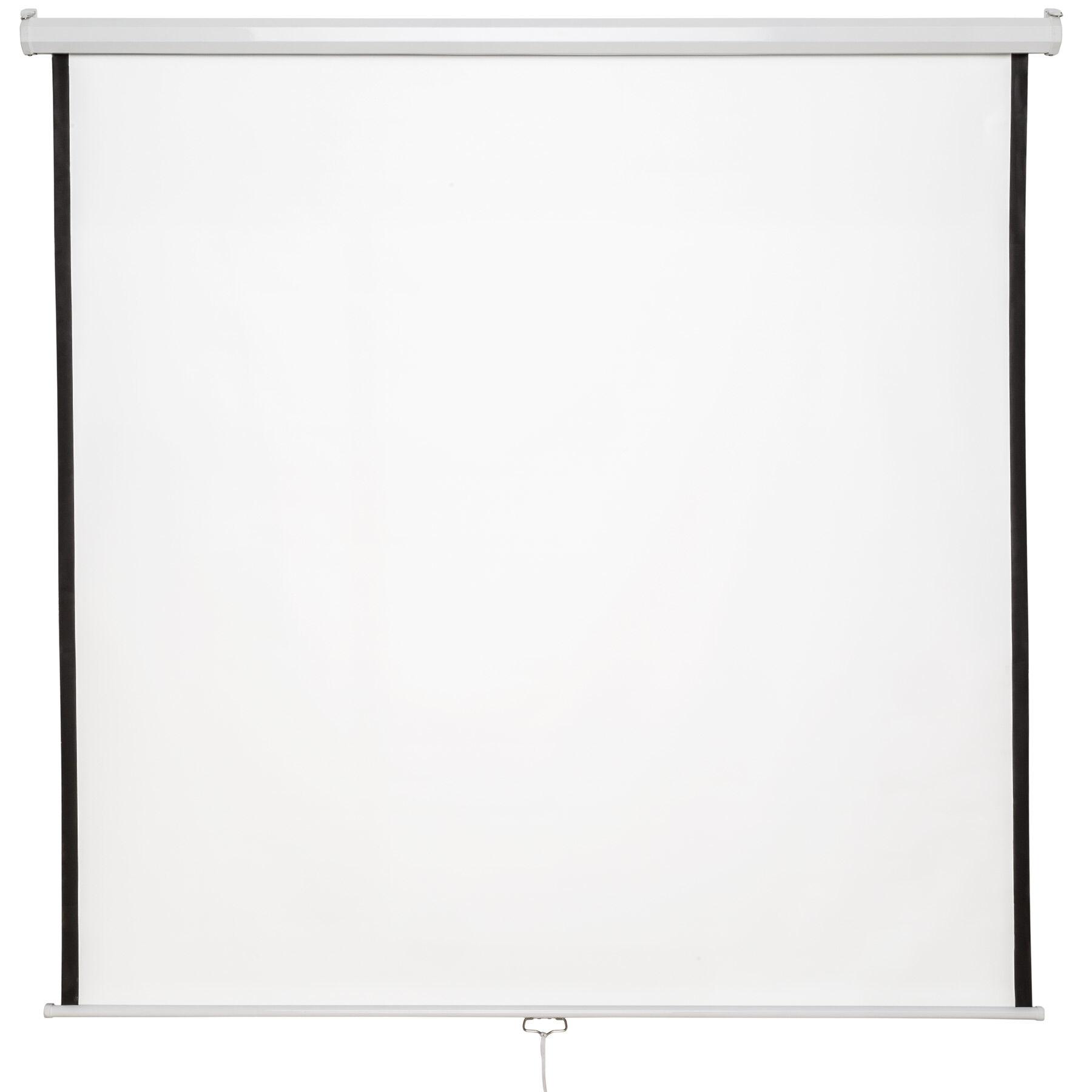 tectake schermo per proiettori hdtv - 152 x 152 cm