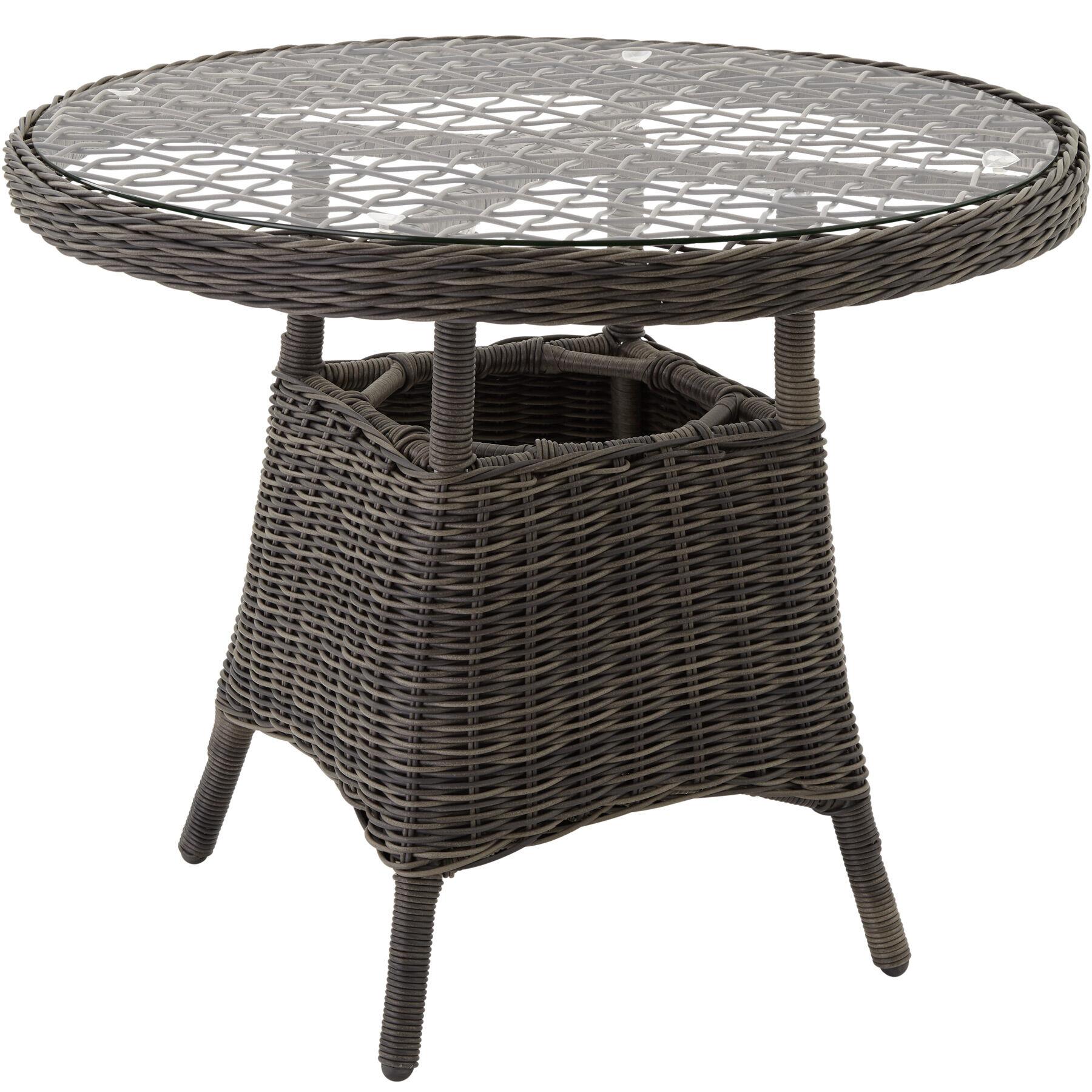 tectake tavolo da giardino - grigio