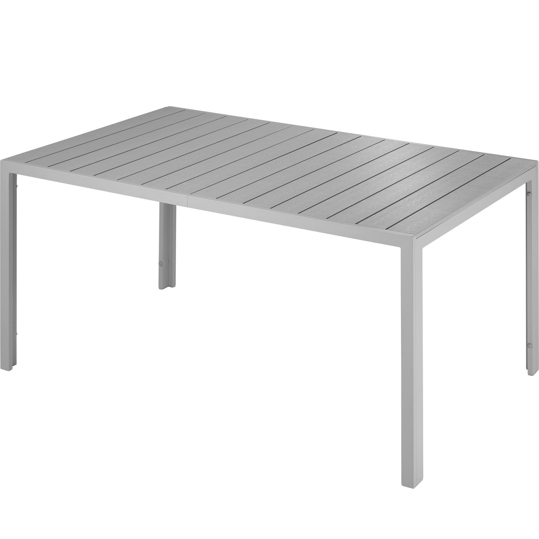 tectake tavolo da giardino simona - argento