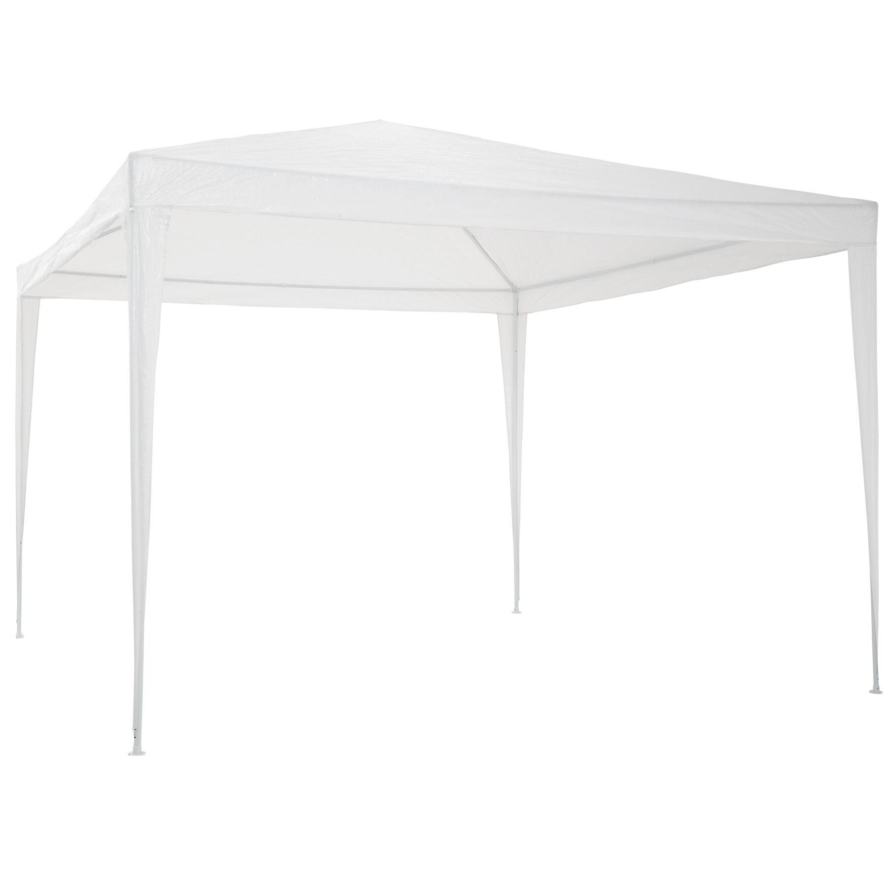 tectake gazebo da giardino 3x3 m - bianco