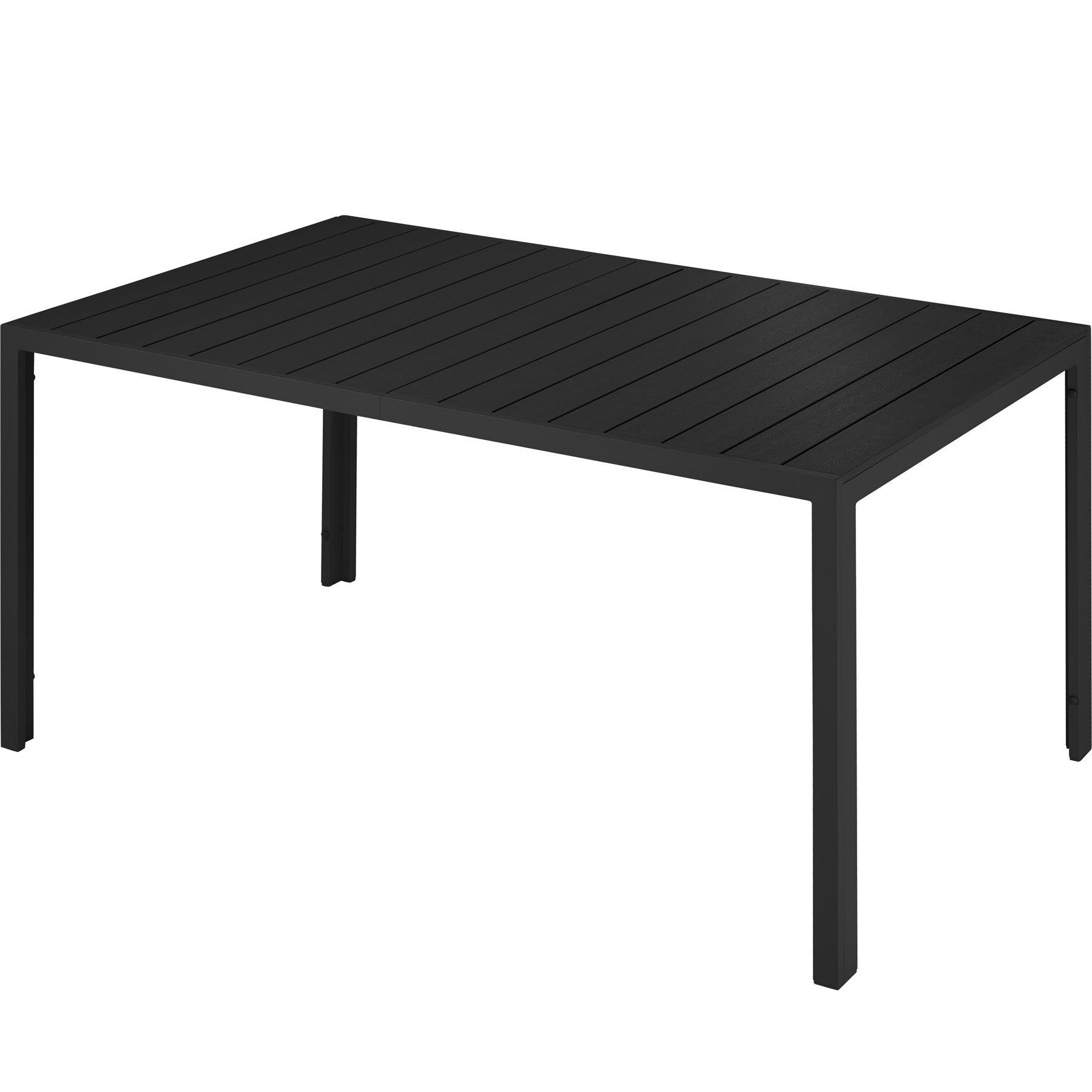 tectake tavolo da giardino simona - nero