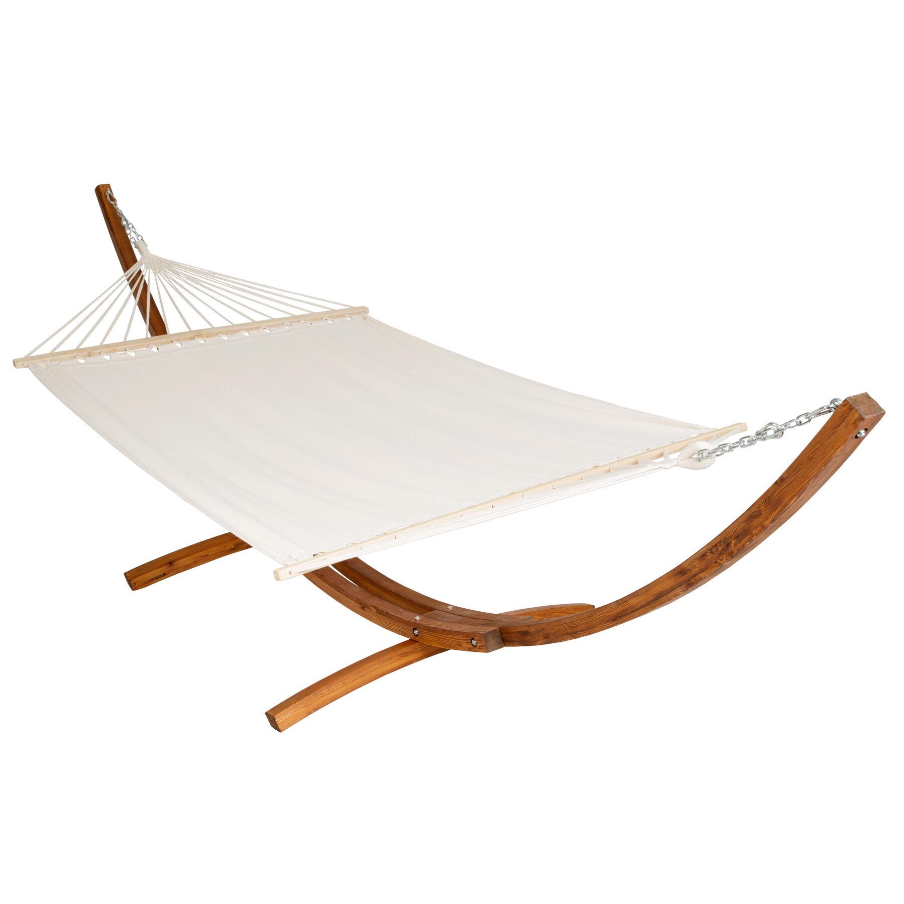 tectake Amaca doppia XXL struttura in legno per 2 persone - bianco