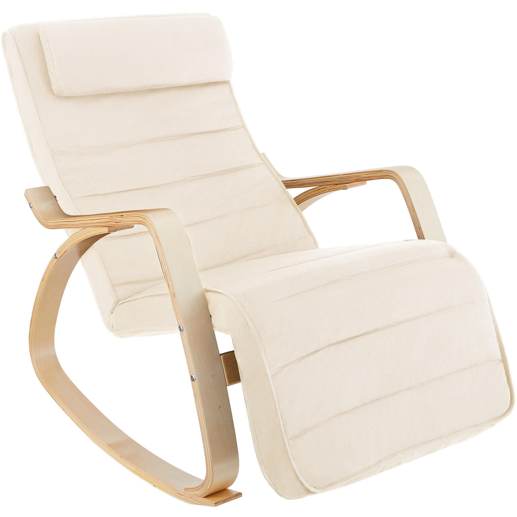 tectake sedia a dondolo onda - beige