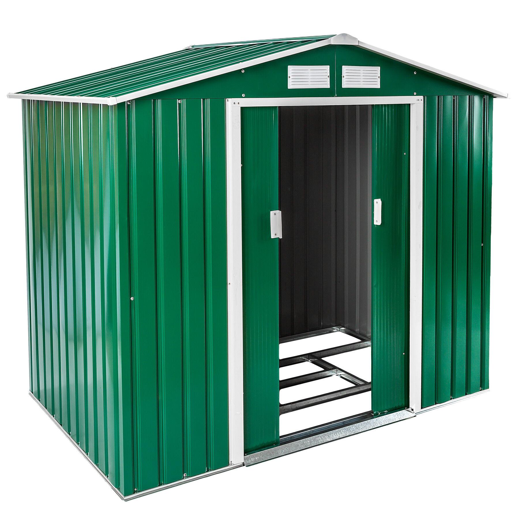 tectake casetta da giardino con tetto a doppia falda - verde