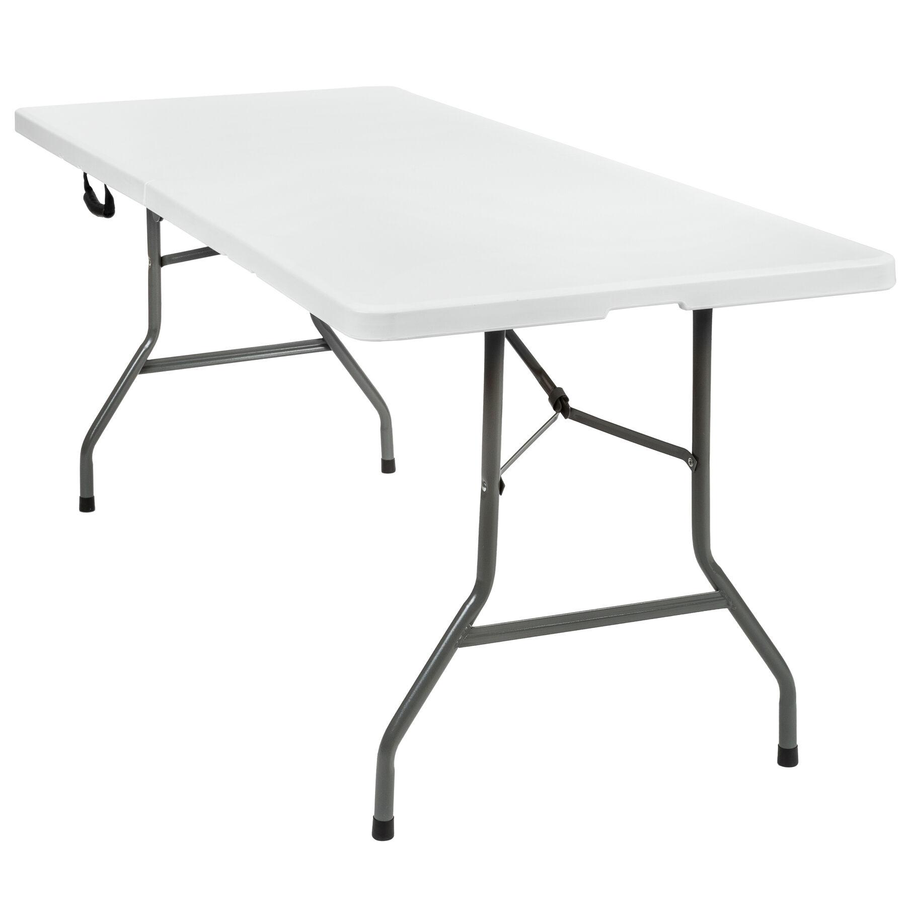 tectake tavolo pieghevole da campeggio - bianco