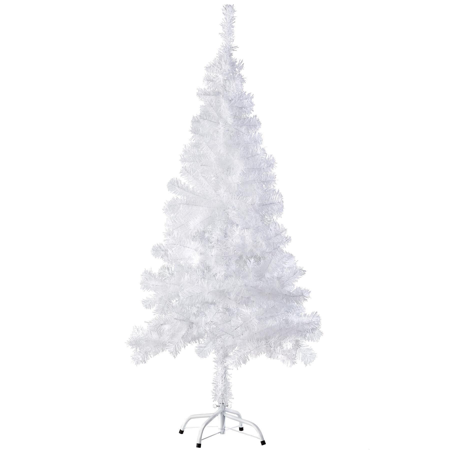 tectake Albero di Natale artificiale - 150 cm, 310 punte, bianco
