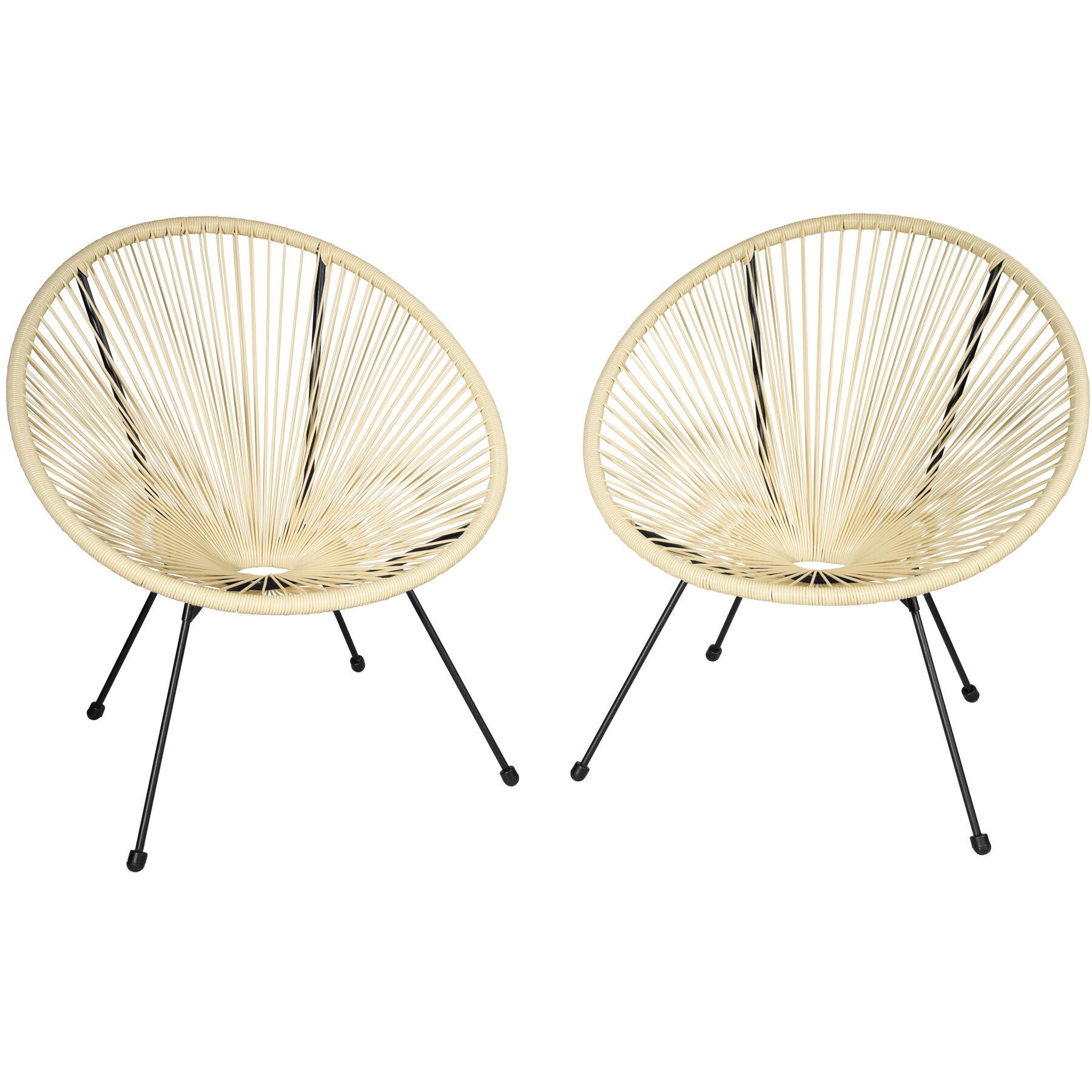 tectake Set di 2 sedie Gabriella - beige