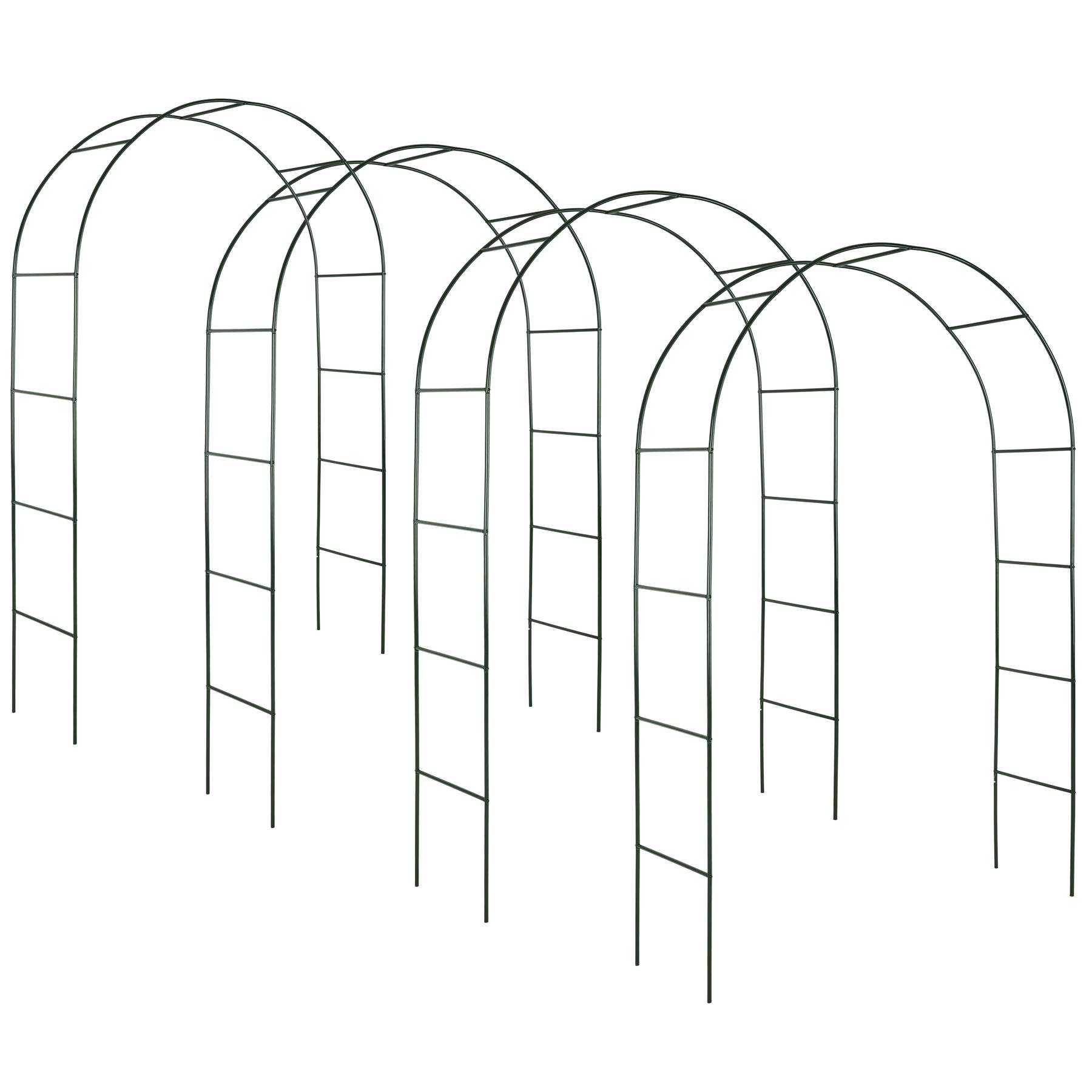 tectake 4 archi per rose rampicanti ca. 240cm - verde