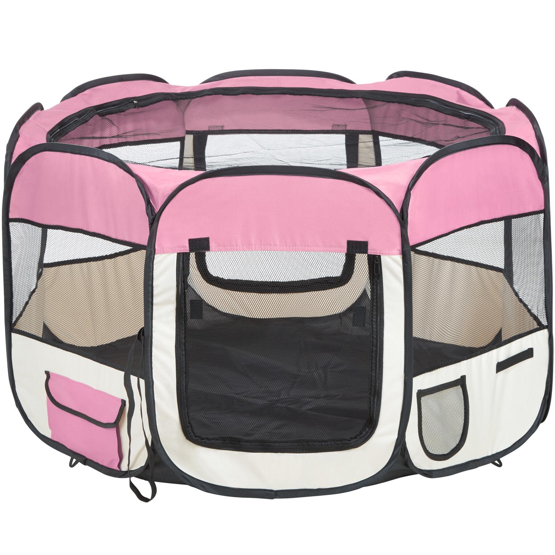 tectake box per animali in poliestere - rosa