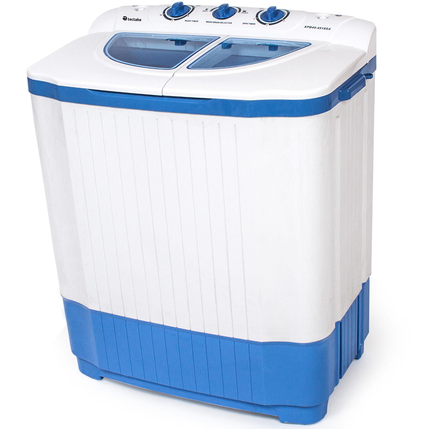 tectake minilavatrice da 4,5 kg con centrifuga da 3,5 kg - bianco
