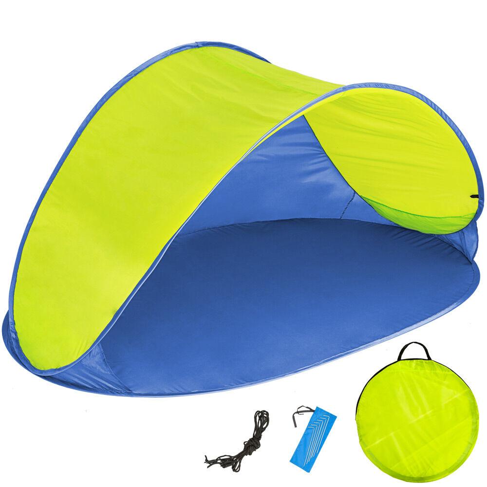tectake tenda parasole da spiaggia ad apertura rapida jasmin - blu/giallo