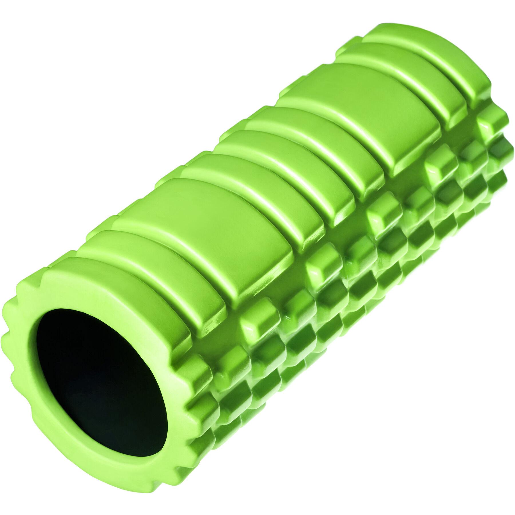 tectake rullo per massaggi yoga rullo miofasciale - verde