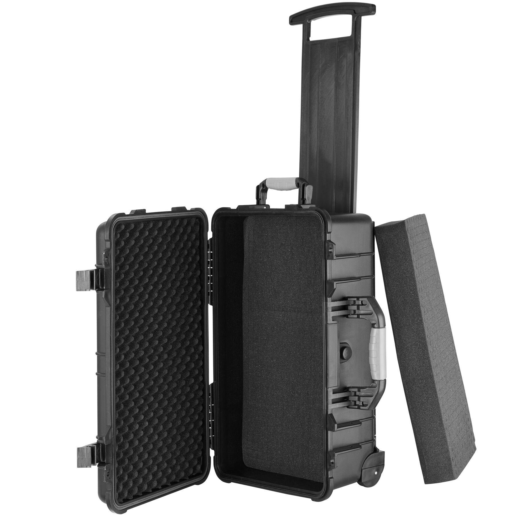 tectake Valigia da trasporto com rotelle e maniglia telescopica - nero