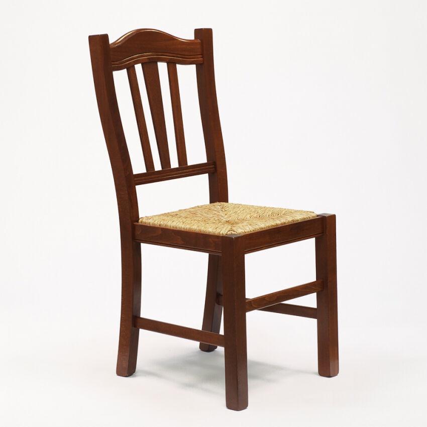 AHD Amazing Home Design Sedia in legno con seduta impagliata per cucina e sala da pranzo Silvana Paglia