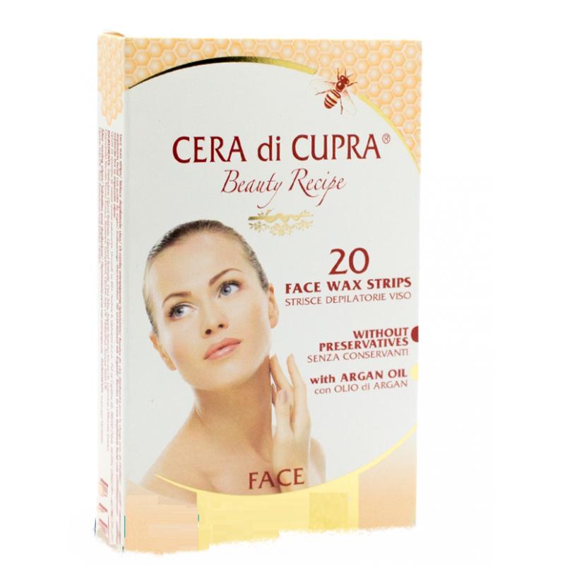 farmaceutici dott.ciccarelli cera di cupra strisce depilatorie viso nutrienti protettive 20 pezzi