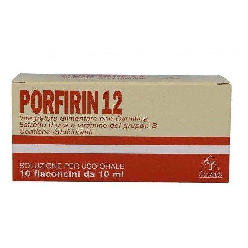 teofarma srl porfirin 12 integratore alimentare in caso di stanchezza fisica e mentale 10 flaconcini