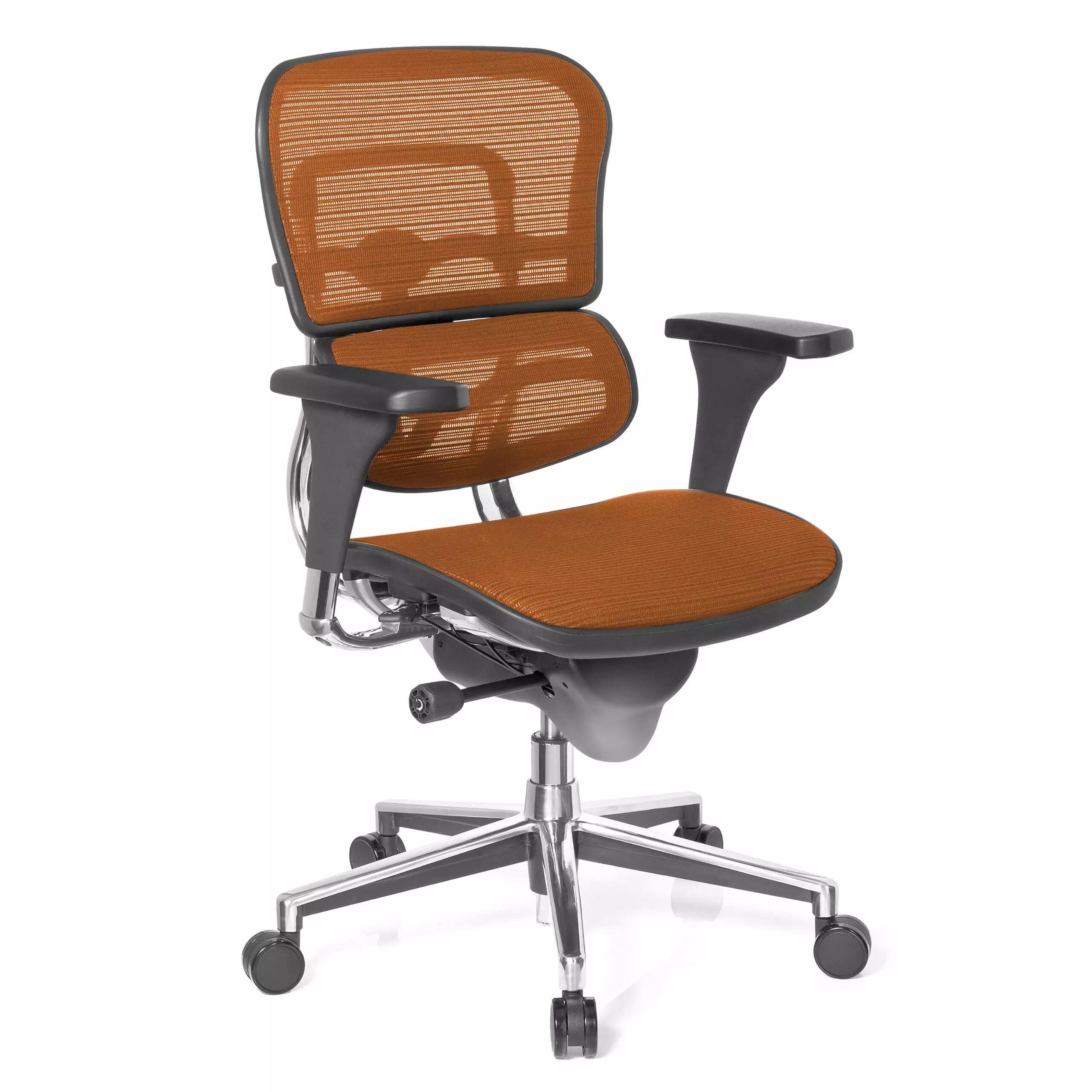 Ofiprix Sedia per ufficio Keystone, modello premium, alluminio, rete, arancione