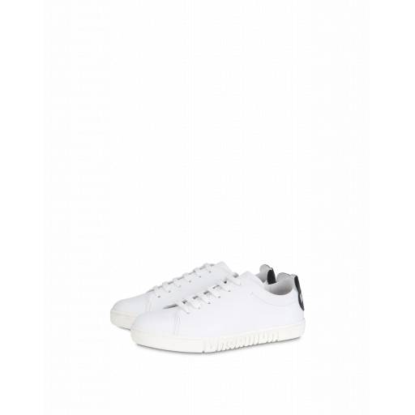 Moschino Sneakers Con Sagoma Teddy Bear Bianco