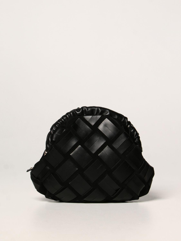 furla borsa essential furla in camoscio e pelle intrecciata