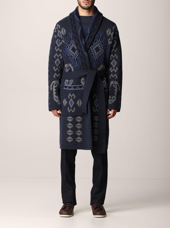 Etro Cappotto a vestaglia Etro in lana