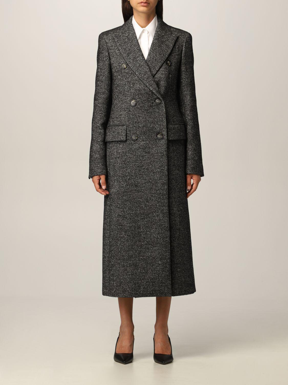 sportmax cappotto sartoriale sportmax in tweed