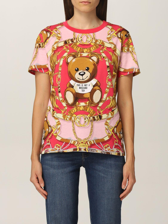 Moschino Tshirt Moschino Couture in cotone con teddy