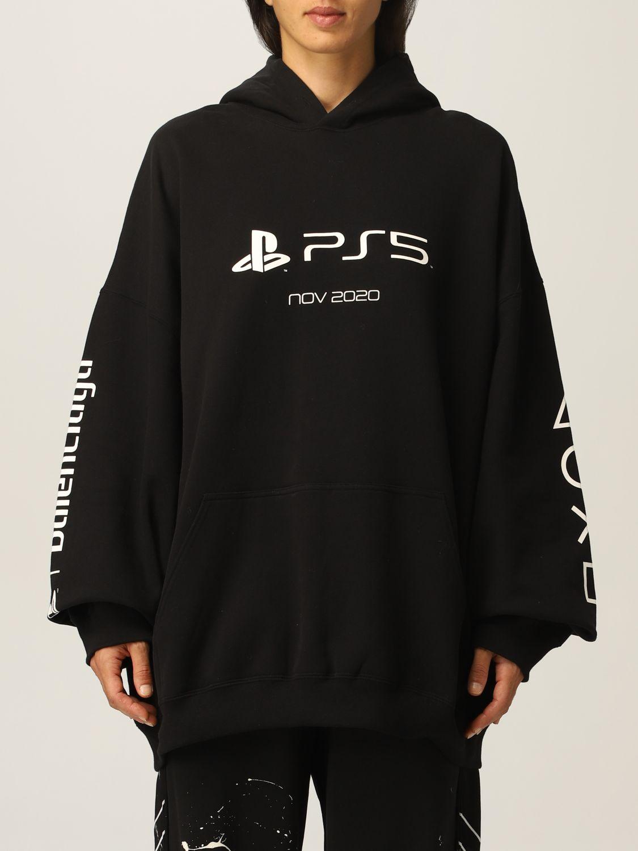 Balenciaga Felpa Balenciaga in cotone con logo PS5
