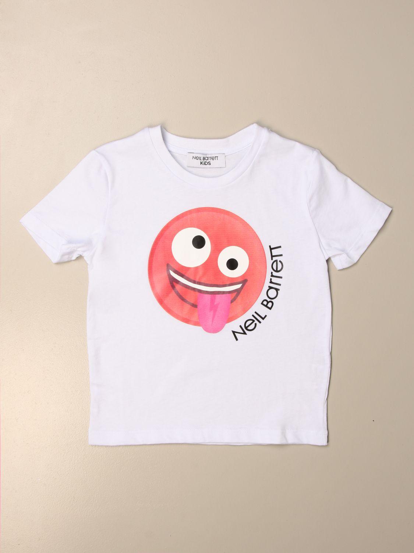 Neil Barrett Tshirt Neil Barrett in cotone con stampa smile