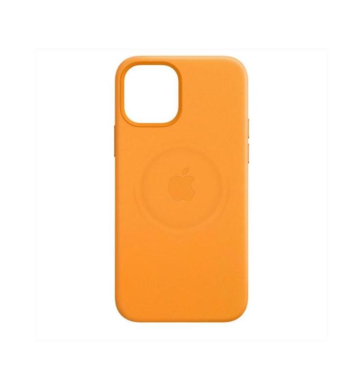 Apple Leather Case MagSafe iPhone 12/12 Pro - California poppy