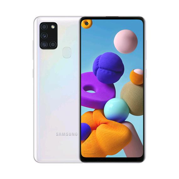 Samsung A217F-DSN Galaxy A21s Dual LTE 32GB 3GB RAM White (Doublesealed) (8806090483660) - EU Spec