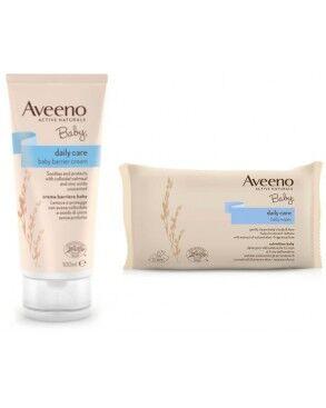 Johnson & Johnson Aveeno Baby Barrier Cream 100 Ml + Baby Wipes Promo