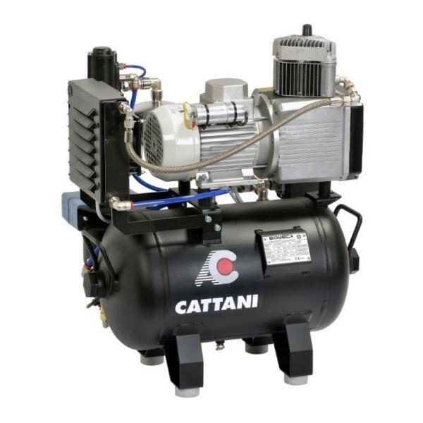 cattani compressore di 1 cilindro con essiccatore d'aria di cattani ac100 + hepa h14